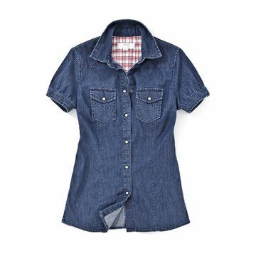 2012SS女款牛仔短袖衬衫