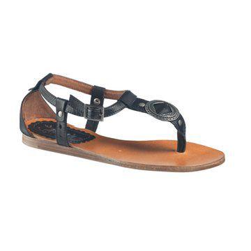 黑色复古罗马凉鞋