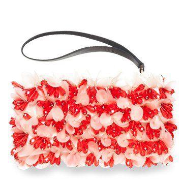 2012冬季新款红粉手拿包