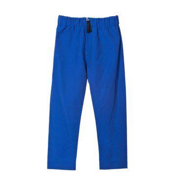 蓝色棉麻长裤