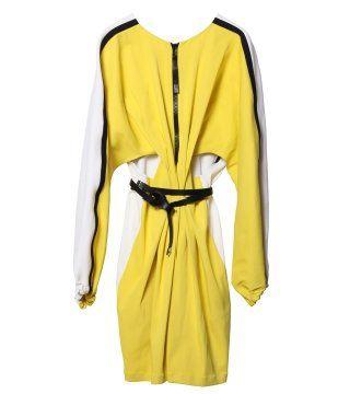 荧黄连身裙