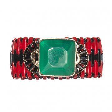 2012冬季系列墨绿色配红色树脂手镯
