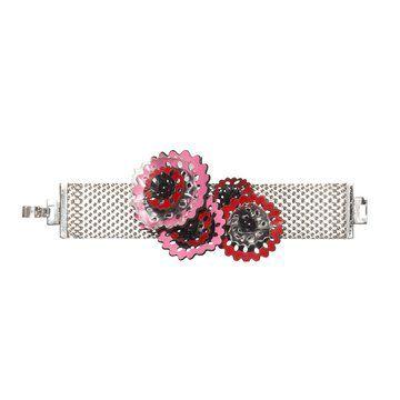红色小花装饰手链