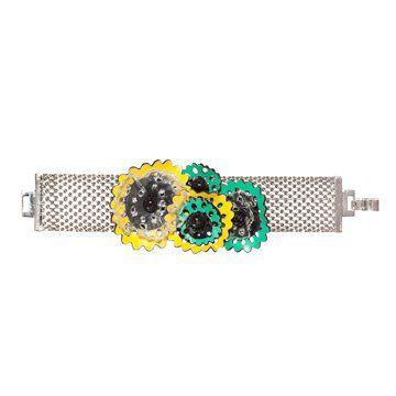 黄绿色小花装饰手链