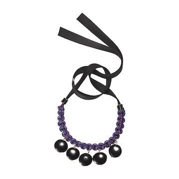 紫色编织款手链
