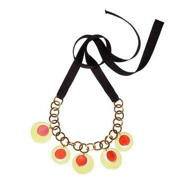 橙黄双色短款项链