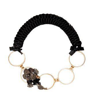 花饰金属环带项链