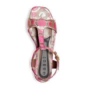 粉红色印花凉鞋