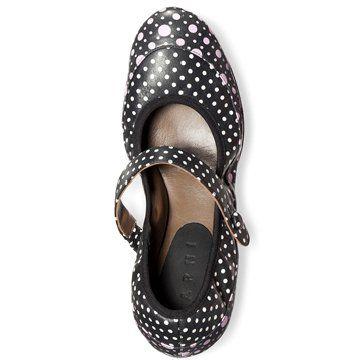 波点图案芭蕾舞鞋
