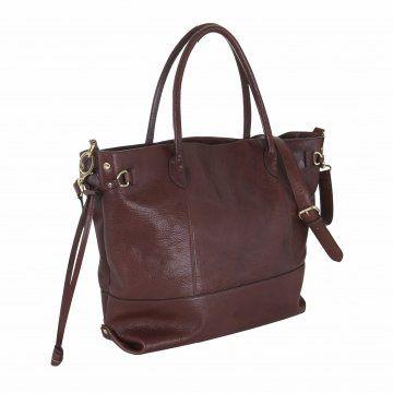 棕色皮质手提包