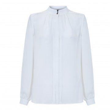 白色立领衬衫