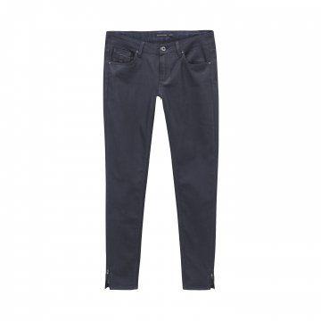 黑色修身拉链长裤