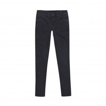 黑色修身牛仔裤