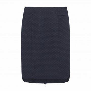 藏蓝色直筒裙