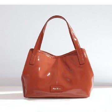 2011春夏SILVANA木瓜色漆皮双手提女士肩背包女士手袋