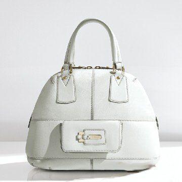 2011春夏HOLIDAY白色纯皮双手提女士手袋