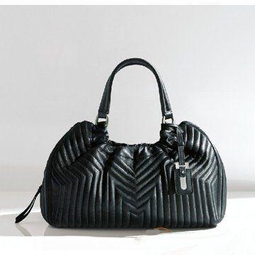 2011春夏RUMENA黑色纯皮压纹双手提女士肩背包女士手袋