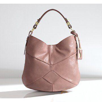2011春夏ORBITA淡粉色纯皮女士单肩包手提袋