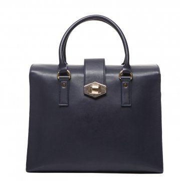 深蓝色箱式拎包