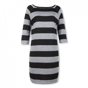 条纹针织连衣裙