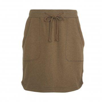 棕色针织短裙