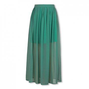 湖绿色雪纺长裙