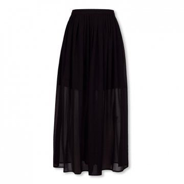黑色雪纺长裙