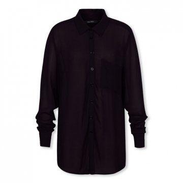 黑色基本款长袖衬衫