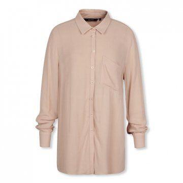 裸粉色基本款衬衫