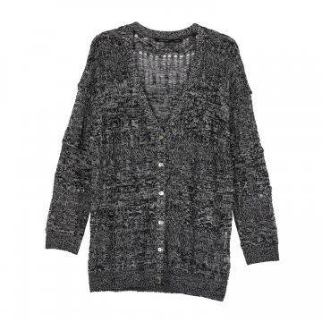 黑灰色针织开衫