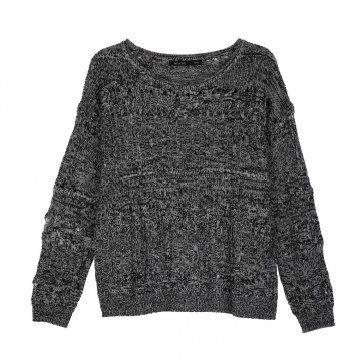 黑灰色针织衫