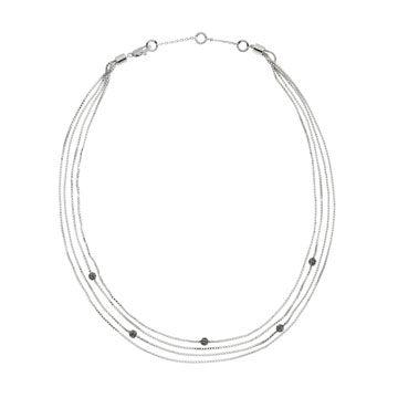 多串式铂金钻石手链