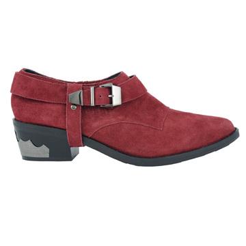 Millie's酒红色猄皮牛仔靴