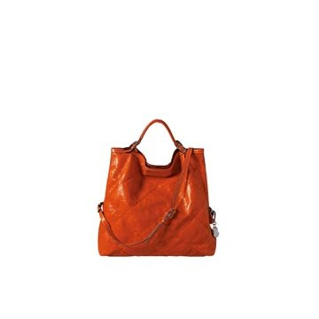 Moncler橘色皮革单肩包