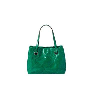 Moncler墨绿色皮革手提包