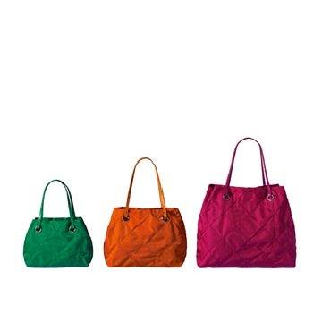 Moncler玫红色皮革手提包