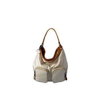 Moncler米色尼龙手提包