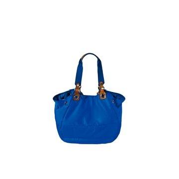 Moncler钴蓝色尼龙手提包