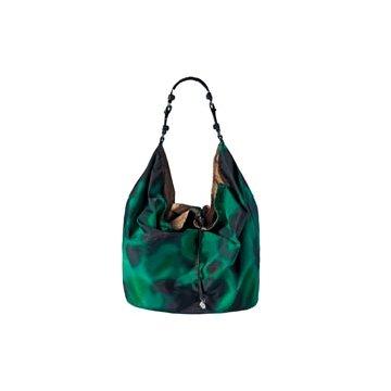Moncler绿色尼龙手提包