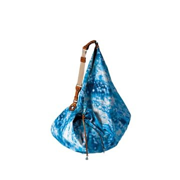 Moncler蓝色印花尼龙手提包