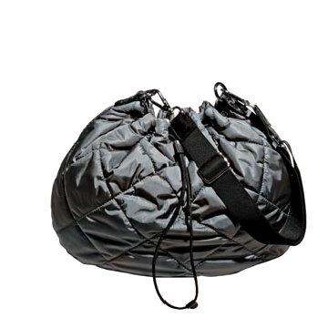 Moncler黑色尼龙手提包