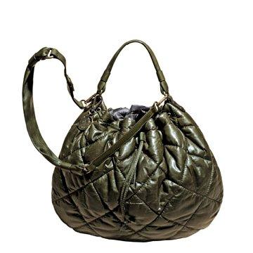 Moncler墨绿色尼龙手提包