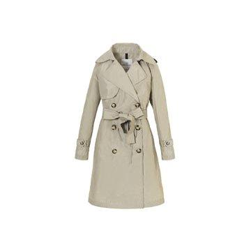 棕色尼龙大衣