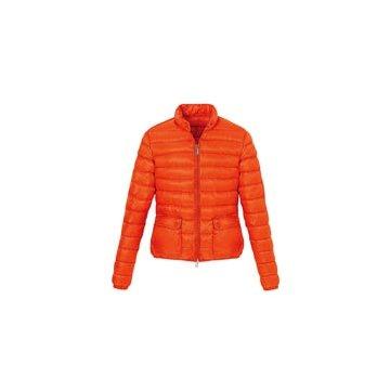 橘色尼龙外套