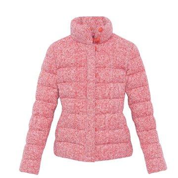 桃红短款羽绒服