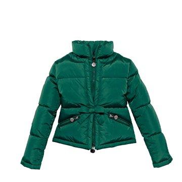 绿色短款羽绒服