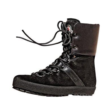 黑色麂皮踝靴鞋