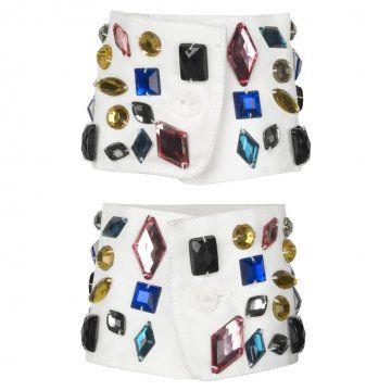 彩色宝石装饰袖口