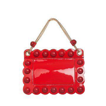 长方形红色小型手拎包