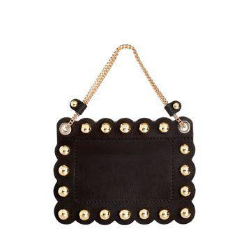 长方形黑色小型手拎包